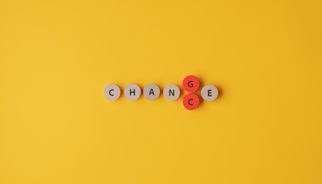 changes spelt out in letters